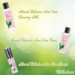 harga dan review mineral botanica Acne care serum, cleasing milk dan toner
