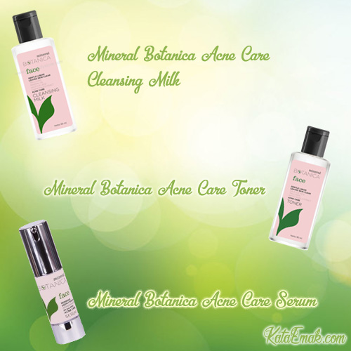 harga dan review mineral botanica Acne care serum, cleasing milk dan toner