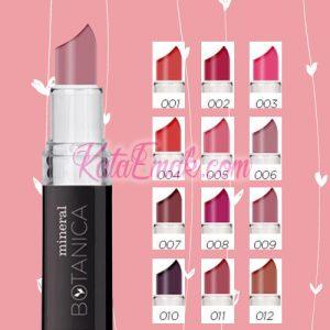 pilihan warna lipstik botanica vivid matte