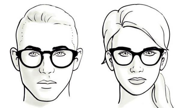 memilih kacamata untuk wajah hati