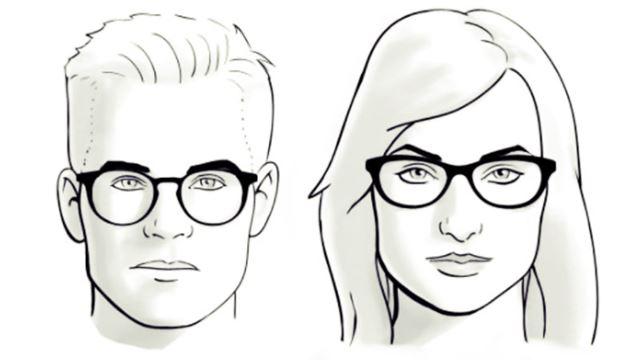 memilih kacamata untuk wajah kotak