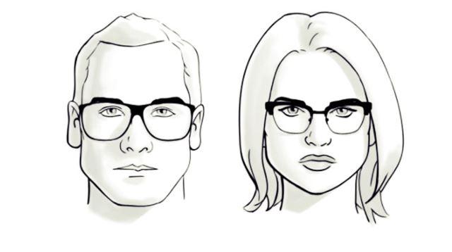memilih kacamata untuk wajah segitiga