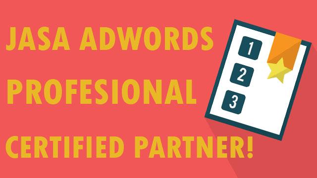 Jasa Adwords, Pasang Iklan Google Profesional Certified
